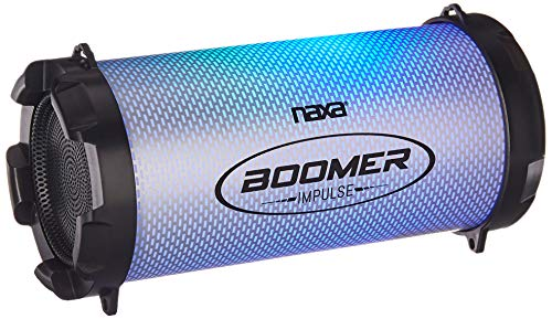 Naxa Electronics NAS-3087 Boomer Impulse Flash Bluetooth Boombox with LED, Lights Black