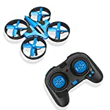 RCtown ELF Mini Drone for Kids, 2.4Ghz 6-Axis Gyro Headless Mode LED Lights Remote Control RC Quadcopter (Blue)