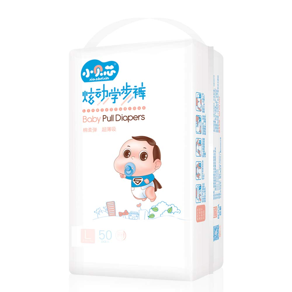 Bedside guardrail Baby Diapers, Winter Soft Non-Woven Fabric Absorbent Resin Breathable Comfort Unisex Diapers, Xl100 Diapers Suitable for 15kg Baby