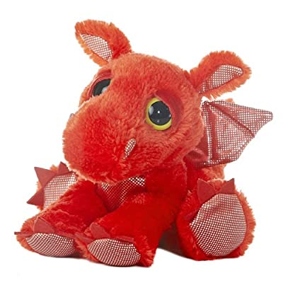 "Aurora World Dreamy Eyes Plush Flame Red Dragon, 10"" - 21249: Toys & Games"