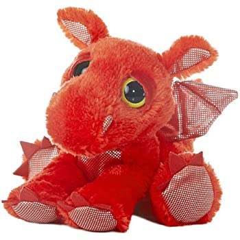 Aurora World Dreamy Eyes Plush Flame Red Dragon, 10