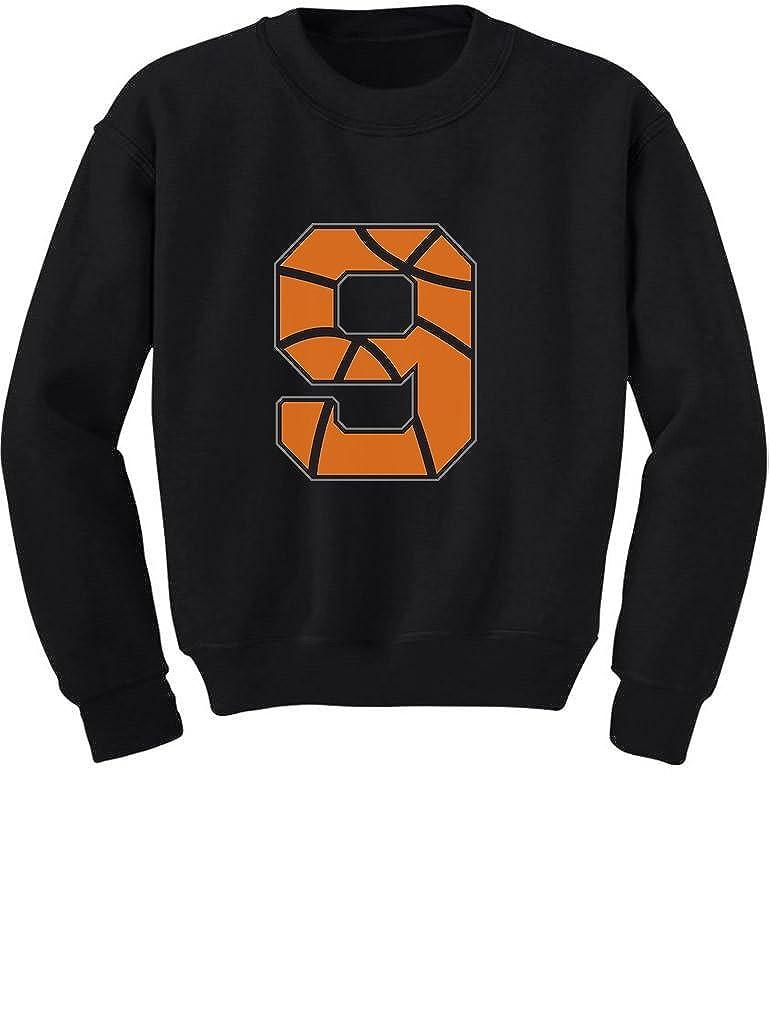Basketball 9th Birthday Gift for Nine Year Old Toddler//Kids Sweatshirt