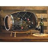 Home Locomotion Barrel Wine Bottle Rack