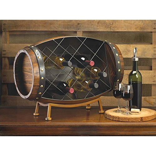 Home Locomotion Barrel Wine Bottle Rack by Koehler