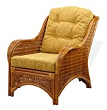 Rattan Wicker Furniture Set of 2 Light Brown Cushions for Living Lounge Chair (Just Cushion)