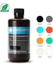 ANYCUBIC 405nm Resin for 3D Printer Photon DLP LCD Uv Printing Rapid Resin 1000ml, Grey