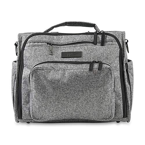 JuJuBe B.F.F Multi-Function Convertible Diaper Backpack/Messenger Bag Onyx Collection, Gray Matter, One Size