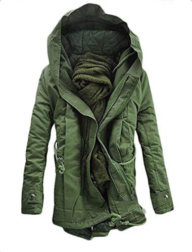 Calda Di Verde Mens Maglia Militare Cappuccio Con Il Oggi Invernali Cappuccio uk Addensare Verso Con Basso Cappotti Trench IfnqxwzC