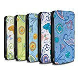 STUFF4 PU Leather Wallet Flip Case/Cover for Apple iPhone X/10 / Pack 12pcs Design / Springtime Collection