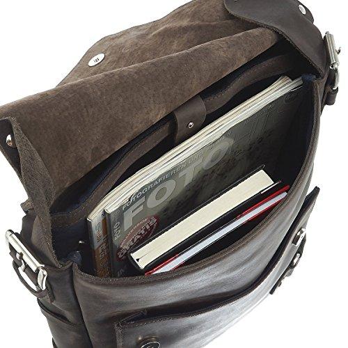 Harolds Ivy Court Borsa a tracolla pelle 29 cm compartimente Laptop