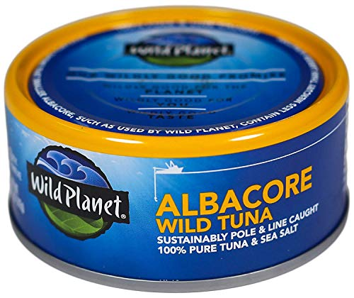 Wild Planet Albacore Wild Tuna, Sea Salt, Keto and Paleo, 3rd Party Mercury Tested, 5 Ounce ,12 Count (Pack of 1) 2