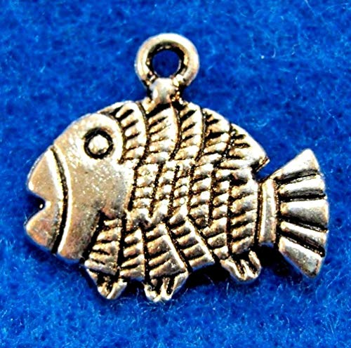 10Pcs. Tibetan Silver Detailed Fish Charms Pendants Drops Jewelry Finding OT27 Crafting Key Chain Bracelet Necklace Jewelry Accessories Pendants -