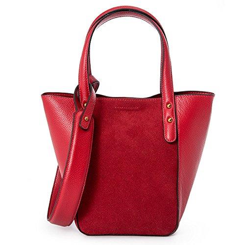Señoras Lujo Bolsos Gran Capacidad Viaje Elegante Bandolera Compras Bandolera Rojo