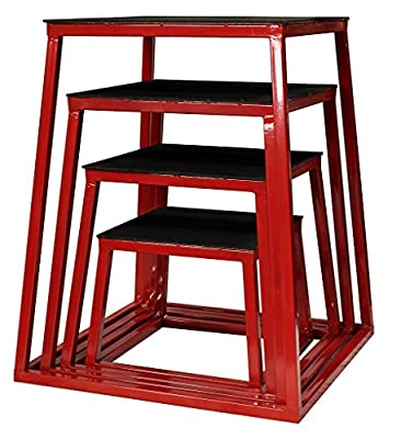 "Plyometric Platform Box Set- 12"", 18"", 24"", 30"" Red from Ader Sporting Goods"