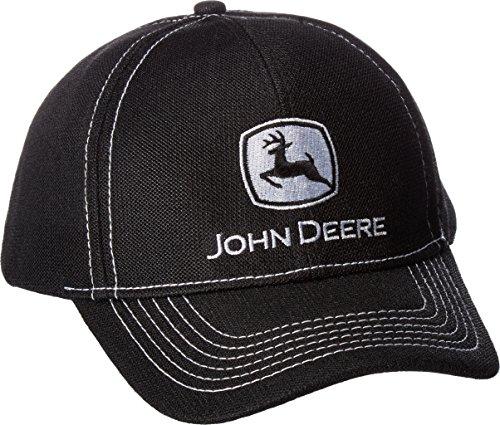 John Deere - Logo Bordado de poliéster para Hombre, Negro, Talla única