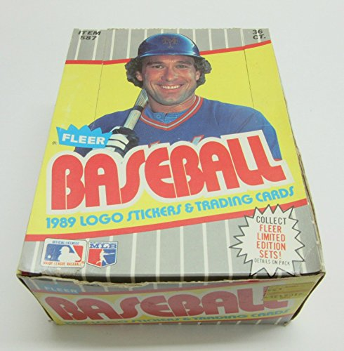1989 Fleer Baseball Unopened Wax Box Unopened Wax Pack