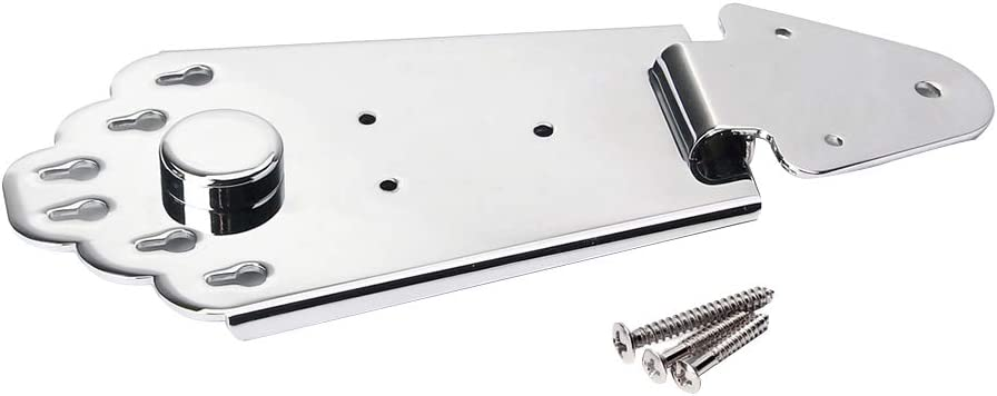 HEALLILY Blank output jack plate with screws for electric guitar bass Black