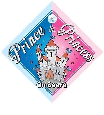 Príncipe & Princesa a bordo señal de coche, CASTILLO, bordo ...