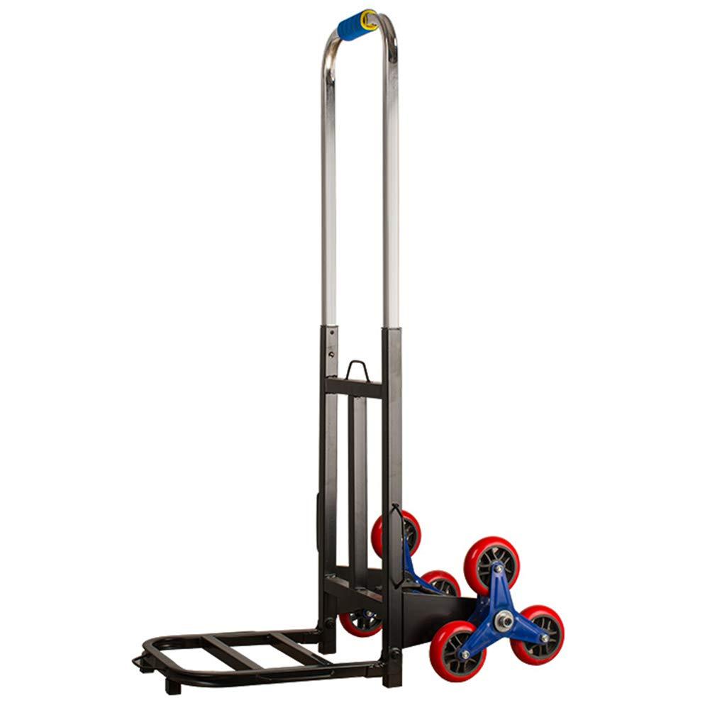 ショッピング用トロリー/折り畳み式トロリー/コンパクトトロリー/ガーデンツール用台車/耐荷重90KG工業用カート  Six-wheel Climbing stairs trolley B07R1LKQKB