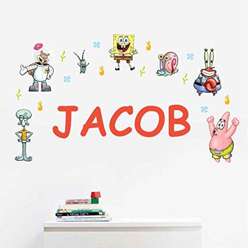 Personalized SpongeBob SquarePantsTM Kids Name Wall Decal - Spongebob Murals Wall