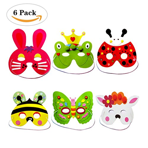 Formemory Cute Cartoon Zoo Animal Face Masks For Kids Dressing Handmade Homemade (Homemade Halloween Costumes Under 10 Dollars)