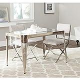 Cheap Safavieh FOX7204A Home Collection Weston Dining Table, Dark Silver