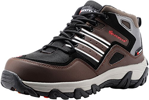 Hiking Steel Toe Hiking Boots - MODYF Men's Steel Toe Work Safety Shoes Outdoor Hiking Boots (7.5)