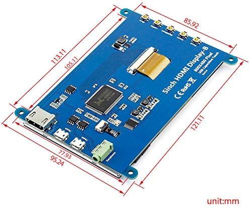 ELECROW FOR RASPBERRY PI 4 TOUCHSCREEN MONITOR 5 INCH HDMI MONITOR DISPLAY 800X480 COMPATIBLE WITH RASPBERRY PI 4 3B+ 3B 2B BB BLACK BANANA PI WINDOWS 10 8 7