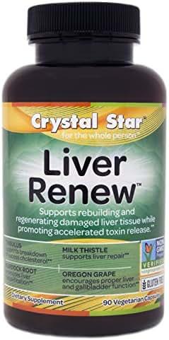 Crystal Star Liver Renew, 90 Vegetarian Capsules