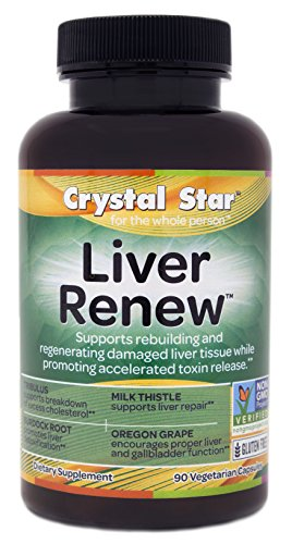 Crystal Star Liver Renew Herbal Supplements, 90 Count
