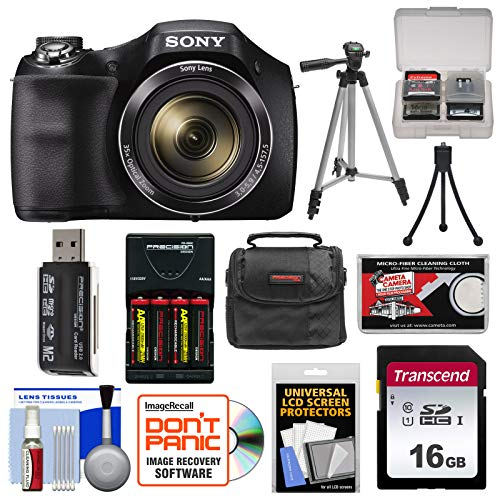 Sony Cyber-Shot DSC-H300 Digital Camera with 16GB Card + Batteries & Charger + Case + Tripod + Accessory ()