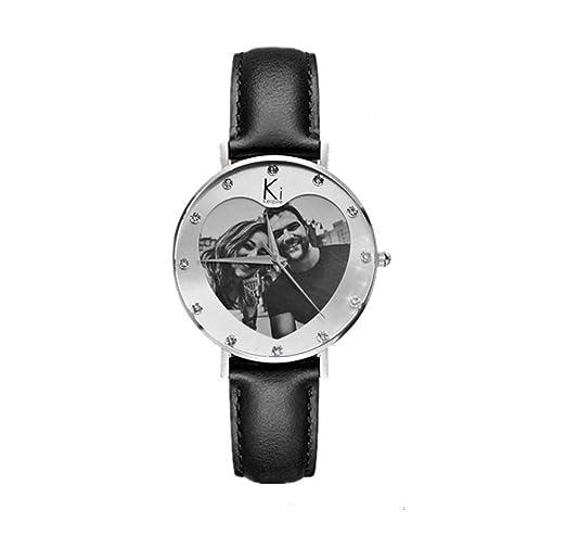 Reloj de pulsera de amor reloj personalizado con foto y mensaje, regalo personalizado para hombres/mujeres: Amazon.es: Relojes