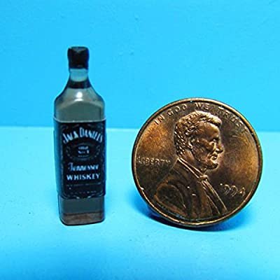Dollhouse Miniature Replica Bottle of Jack Daniels Tennessee Whiskey G - My Mini Fairy Garden Dollhouse Accessories for Outdoor or House Decor