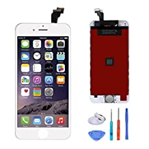 For iPhone 6(4.7'') Touch Screen Digitizer and LCD Display Assembly Replacement(White)+ free tools