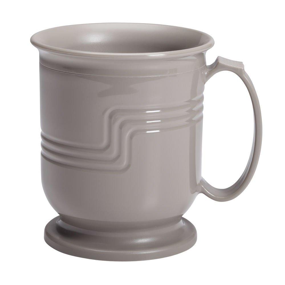 Cambro Shoreline Collection 8 Oz Wheat Beige Plastic Insulated Mug -3 1/2 Dia x 4'' H