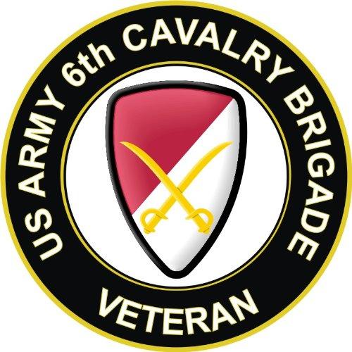 Cavalry Unit - US Army Veteran 6th Cavalry Brigade Unit Crest Decal Sticker 3.8