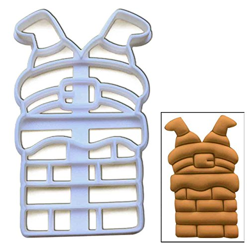 Santa Claus Stuck in the Chimney cookie cutter, 1 pc, Ideal for Christmas party (Christmas Down Chimney Santa Cake)