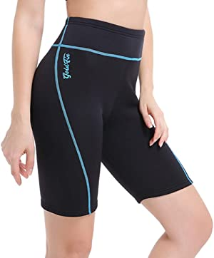 GoldFin Women's Wetsuit Shorts Pants, 2mm Neoprene Pants Keep Warm for Swimming Surfing