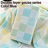 TT&QQ Cotton Bath Towel Double Gauze Squares Printed Baby towelThin Section Easy to Dry Don't wash Cotton Terry Towel Towel Baby slobb