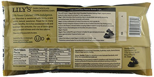 Lily's Chocolate All Natural Premium Baking Chips, Dark Chocolate, 4 Count by Lily's Chocolate (Image #4)
