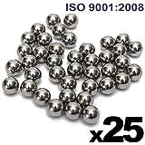 "PGN - 1/2"" Inch (0.5"") Precision Chrome Steel Bearing Balls G25 (25 PCS)"