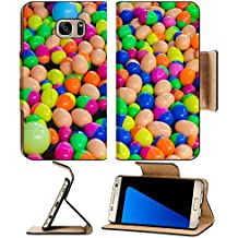 Luxlady Premium Samsung Galaxy S7 EDGE Flip Pu Leather Wallet Case IMAGE ID: 23948034 Ball for gamble game in temple fair