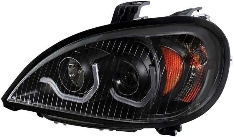United Pacific 31254 Blackout Projection Headlight with LED Position Light Driver 1996-2018 Freightliner columbia