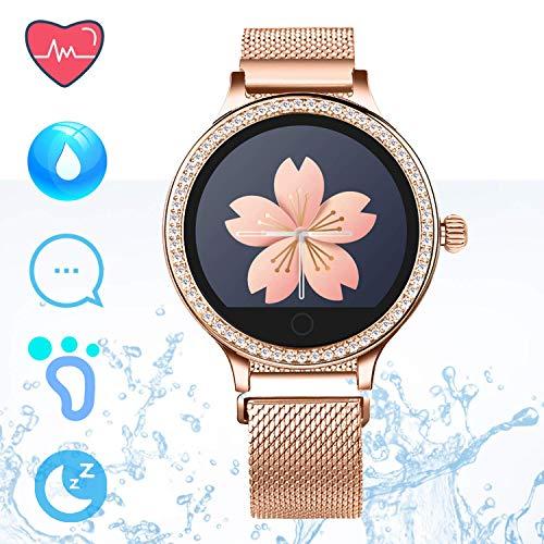IP68 Fitness Tracker Smart Watch – Schrittzähler Uhr Smart Armband mit Herzfrequenz Schlaf Tracker Kalorienzähler…