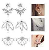Best Earrings For Girls Women - Jstyle 3 Pairs Lotus Flower Earrings Jackets For Review