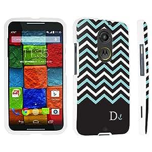 DuroCase ? Motorola Moto X 2nd Gen. 2014 Hard Case White - (Black Mint White Chevron D)
