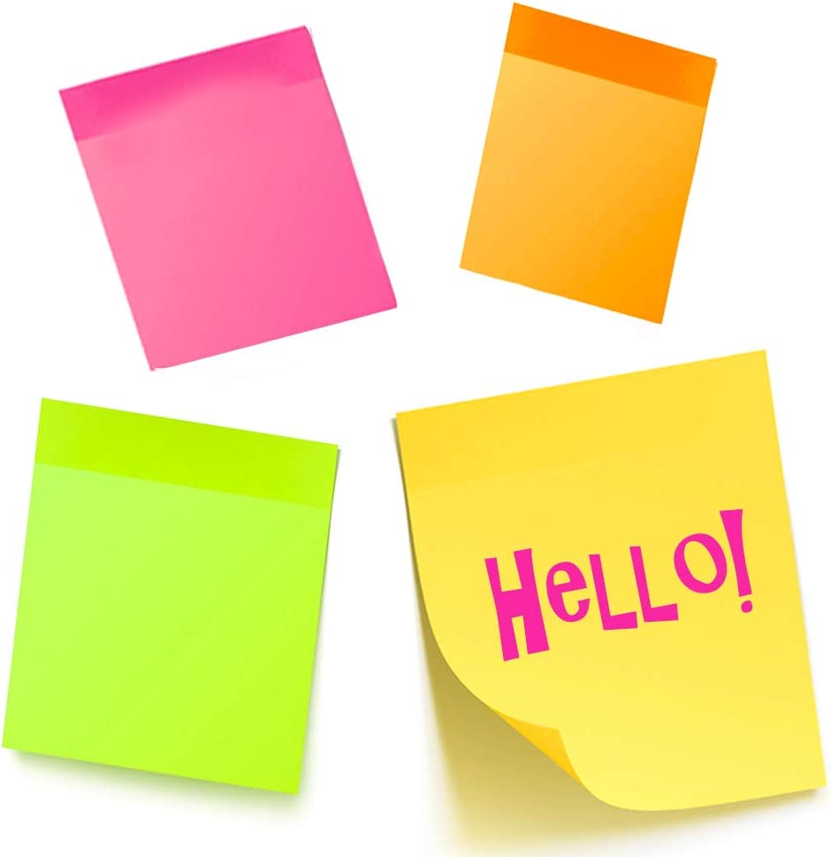 """10PK Sticky Notes 2800 Sheets Mini Memo Pads Post Self Adhesive Office 1.5/"""" X 2/"""""""
