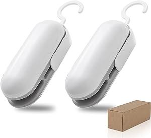 2 Pack Heat Sealer, Premium Chip Bag Sealer, Portable 2 in 1 Mini Heat Sealer for Plastic Bags Storage, Handheld Food Sealer, Bag Sealer Heat Seal, which can seal snack or food bags anytime, anywhere