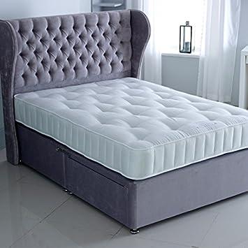 The Luxury Bed Co. Capitonnée Chesterfield Divan Et Tête De Lit U2013 Luxueux  Et Heavy