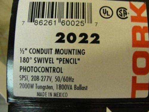 Tork 2022 Photocontrol, 180DegSwivel, 208-277V, 4.875In Long